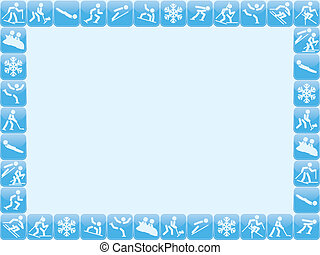 winter sports background - background with winter sports...