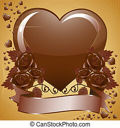 Lot of Chocolate Hearts and roses - Vector Lot of Chocolate...