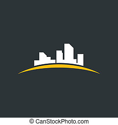 Abstract city3 - Silhouette a city. A vector illustration