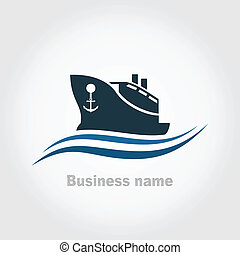 Ship - The ship in the sea A vector illustration