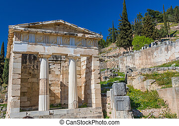 Treasure of the Athenians at Delphi oracle archaeological...