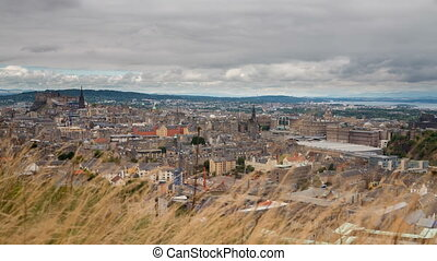 Edinburgh - 4K version of Edinburgh old town skyline...