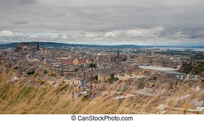 Edinburgh - 4K version of Edinburgh old town skyline...