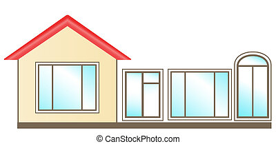 set of windows for home - set of windows for installation in...