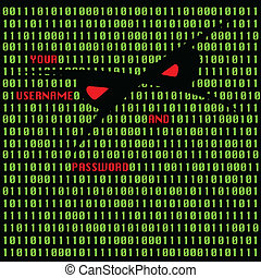 Hacker attack vector illustration - abstract vector...