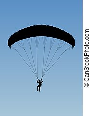 Paragliding - Illustration of a person paragliding