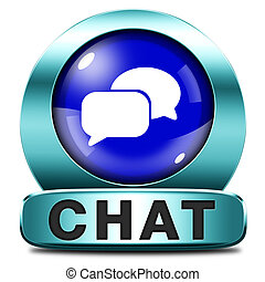 live chat icon. Chatting online button.