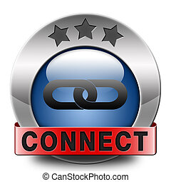 connect icon - connect internet and worldwide connection...