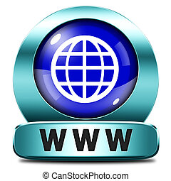 www world wide internet icon