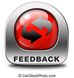 feedback or testimonials icon or button. Publical comments...