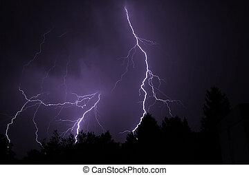 Lightning - A lightning in the night