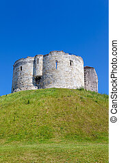 Clifford's Tower in York, a city in England - Clifford's...