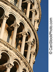 leaning tower - The leaning tower in Pisa Italy
