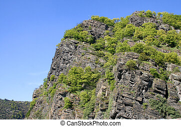Famous Loreley Rock - the famous Lorelay rock at the river...