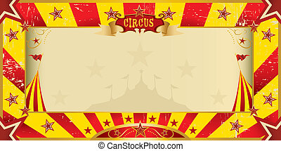 yellow and red grunge circus invitation - A circus yellow...