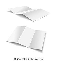 Folded Paper Illustration on white background for design