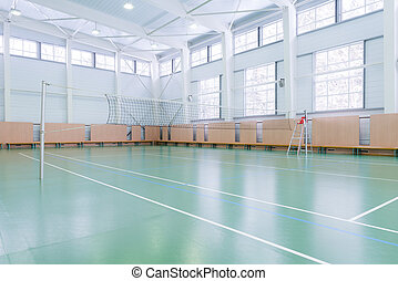 Indoors tennis court - Emptry indoors tennis court in large...