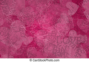 Love Abstract Background - Nice romantic background made of...