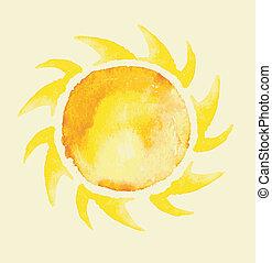Bakery Boss - watercolor hand painted sun