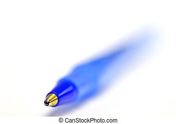 Closeup of Blue Ball Point Pent - Closeup of blue ball point...