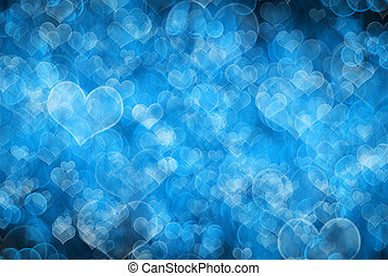 valentines background - Blue gunge Valentines Day background...