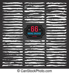 66 VECTOR GRUNGE BRUSHES - Set of grunge brushes. Design...
