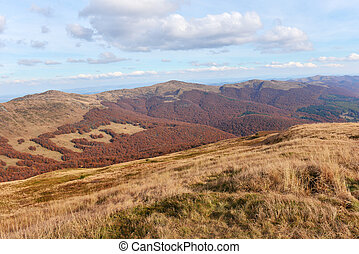 Bieszczady mountains in late autumn - Poland