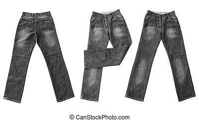 jeans isolated on white - fashion object. jeans isolated on...