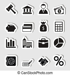 Business Icons Set as Labes