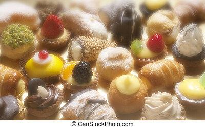 patisserie - pasticceria, small italian dessert, patisserie...