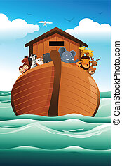 Noahs ark - A vector illustration of Noahs ark