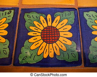 Mexican Tile - Close up of the Mexican tile