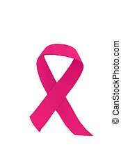 breast cancer ribbon - a pink breast cancer ribbon