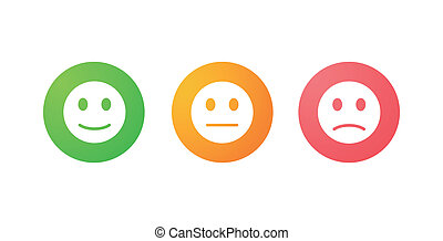 Survey icons - Illustration of an isolated set of survey...