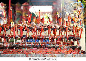 candle Chinese New Year celebration