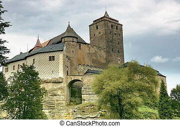 Castle Kost - Czech Republic - View of the historic castle...