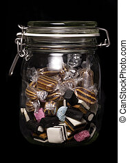 glass jar of sweets cutout