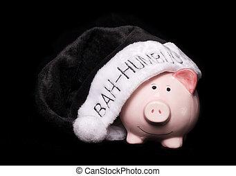 Bah humbug piggy bank cutout
