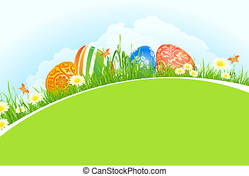 Beautiful Easter Holiday Background - Beautiful Easter...