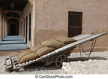 Traditional handcart - A handcart of the kind used by Arab...