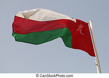 Omani flag - The national flag of Oman in the Arabian...