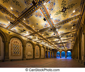 Bethesda Underpass - New York City at Bethesda Terrace...