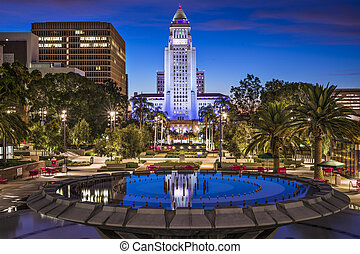 Los Angeles City Hall - Los Angeles, California at City Hall...