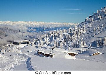 Paganella ski - Dolomites in winter, Paganella, Trento,...