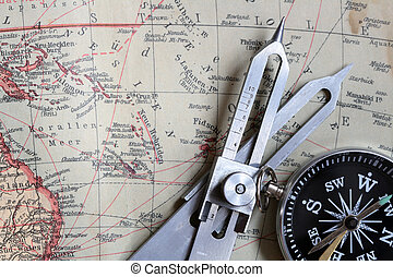 Navigation equipment - Proportional Dividers and compass on...