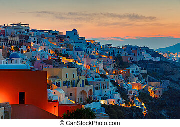 Sunrise over Oia, Santorini - A beautiful sunrise over Oia...