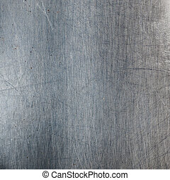 Scratched metal background - Metallic background with...