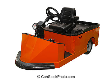 Tow tractor vehicle - Orange tug tow tractor for material...