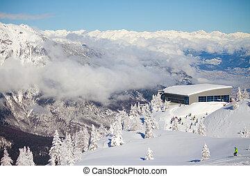 Paganella ski - winter landscape, Paganaella, Trento, Italy