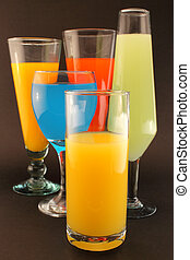Refreshments of various colors - Conceptual image about...